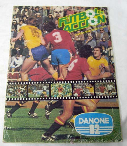 ALBUM INCOMPLETO FÚTBOL EN ACCIÓN DANONE 82 MUNDIAL MUNDIALES FÚTBOL FALTAN 48 CROMOS DE 96 (Coleccionismo Deportivo - Álbumes y Cromos de Deportes - Álbumes de Fútbol Incompletos)