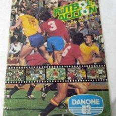 Coleccionismo deportivo: ALBUM INCOMPLETO FÚTBOL EN ACCIÓN DANONE 82 MUNDIAL MUNDIALES FÚTBOL FALTAN 48 CROMOS DE 96. Lote 9704555