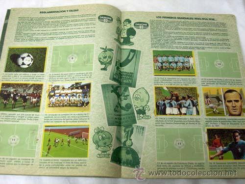 Coleccionismo deportivo: Album incompleto Fútbol en Acción Danone 82 Mundial Mundiales fútbol Faltan 48 cromos de 96 - Foto 2 - 9704555