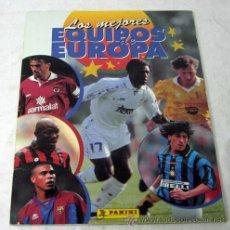 Coleccionismo deportivo: LOS MEJORES EQUIPOS DE EUROPA 1996 ED PANINI 1997 FALTA 50% ÁLBUM FÚTBOL INCOMPLETO. Lote 126640063