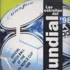 Coleccionismo deportivo: ALBUM VACIO *LAS ESTRELLAS DEL MUNDIAL 98* - EL AÑO DEL FÚTBOL - EL MUNDO DEPORTIVO 1998. Lote 24082378