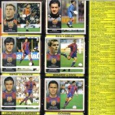 Coleccionismo deportivo: HOJA DE ALBUM LIGA FUTBOL 1998/99 CON 13 CROMOS DEL BARCELONA Y 10 CROMOS DEL REAL BETIS. Lote 16988511