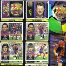 Coleccionismo deportivo: HOJA DE ALBUM LIGA FUTBOL1998/99 CON 11 CROMOS DEL BARCELONA Y 12 CROMOS DEL ATLETIC CLUB. Lote 16988512
