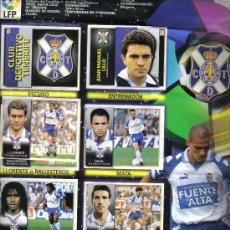 Coleccionismo deportivo: HOJA DE ALBUM LIGA FUTBOL1998/99 CON 9 CROMOS DEL C.D TENERIFE Y 13 CROMOS DEL REAL SOCIEDAD. Lote 16988514