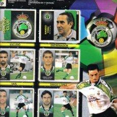 Coleccionismo deportivo: HOJA DE ALBUM LIGA FUTBOL1998/99 CON 8 CROMOS DEL REAL RACING CLUB Y 13 CROMOS DEL REAL OVIEDO. Lote 16988515