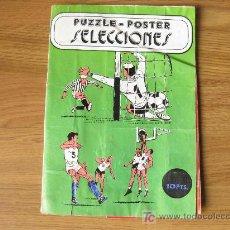 Coleccionismo deportivo: PUZZLE POSTER SELECCIONES - SELECCIONES ESPAÑOLA DE FUTBOL Y BALONCESTO. Lote 25422950