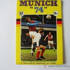 Coleccionismo deportivo: ALBUM FUTBOL MUNICH 74 FHER COMPLETO. Lote 25324036