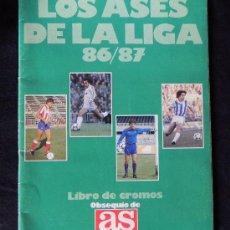 Coleccionismo deportivo: ÁLBUM LOS ASES DE LA LIGA 86 87 LIBRO DE CROMOS AS - INCOMPLETO - AÑO 1986 1987 - FÚTBOL DEPORTE. Lote 25190603