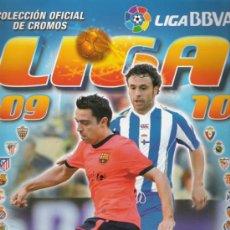 Coleccionismo deportivo: ALBUM PARA CROMOS DE LA LIGA DE 2009/2010 CON 411 CROMOS. Lote 21002903