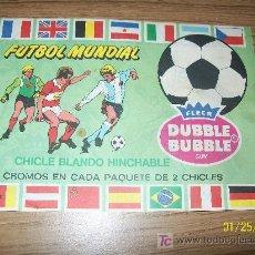 Coleccionismo deportivo: FLEER, DUBBLE BUBBLE, GUM.- FUTBOL MUNDIAL-ÁLBUM DE CROMOS- VACIO-1982.. Lote 137534025