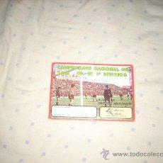 Coleccionismo deportivo: ALBUM PLANCHA DE EDICIONES ESTADIO LIGA 80-81 ,DIFICILISIMO. Lote 24196220