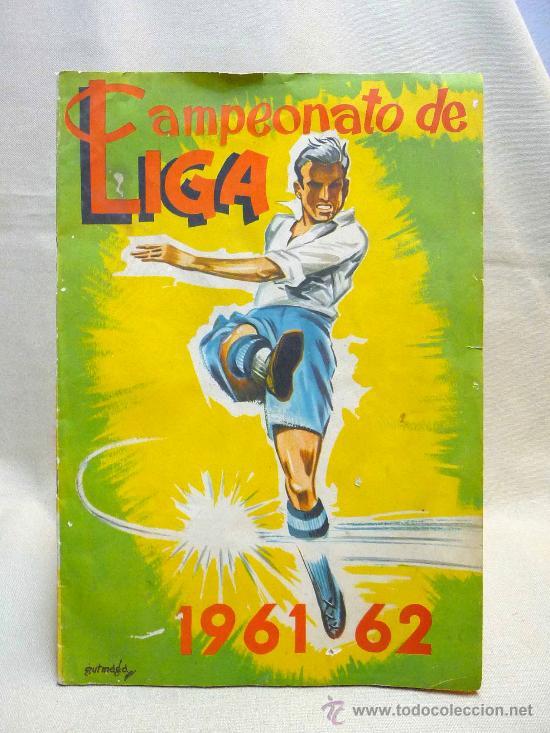 ALBUM DE CROMOS DE FUTBOL, CAMPEONATO DE LIGA, 1961 - 1962, 61 - 62, DISGRA, FHER, TIENE 104 CROMOS (Coleccionismo Deportivo - Álbumes y Cromos de Deportes - Álbumes de Fútbol Incompletos)