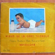 Coleccionismo deportivo: ALBUM DE LA GRAN TÓMBOLA, FÚTBOL, CINE, TOROS, CAMPAÑA BENÉFICA RADIO NACIONAL ESPAÑA-BARCELONA 1961. Lote 27226328