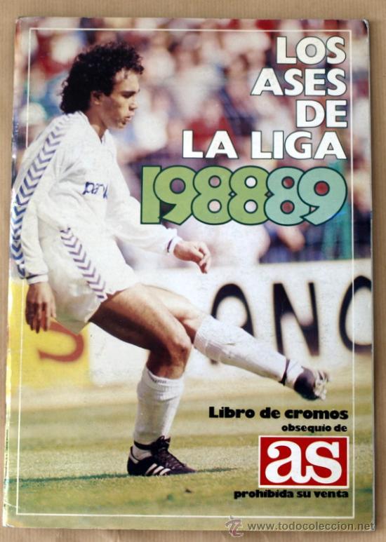 LOS ASES DE LA LIGA 88/89 - ALBUM INCOMPLETO - FALTAN 17 CROMOS - (Coleccionismo Deportivo - Álbumes y Cromos de Deportes - Álbumes de Fútbol Incompletos)