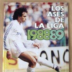 Coleccionismo deportivo: LOS ASES DE LA LIGA 88/89 - ALBUM INCOMPLETO - CON 16 CROMOS -. Lote 26174807