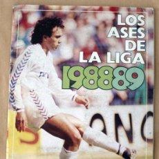 Coleccionismo deportivo: LOS ASES DE LA LIGA 88/89 - ALBUM INCOMPLETO - FALTA 15 CROMOS -. Lote 27596835