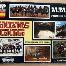 Coleccionismo deportivo: ALBUM PROMOCION DEPORTIVA - ALBUM INCOMPLETO - CON 99 CROMOS -. Lote 27543606