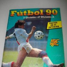 Coleccionismo deportivo: ALBUM FUTBOL 90 1ª Y 2ª DIVISION A CON POSTER EN EL INTERIOR DE PANINI. Lote 27933612