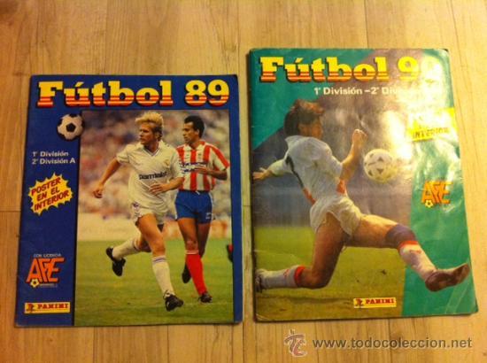 LOTE ALBUM CROMOS FUTBOL PANINI 89 Y 90 (Coleccionismo Deportivo - Álbumes y Cromos de Deportes - Álbumes de Fútbol Incompletos)