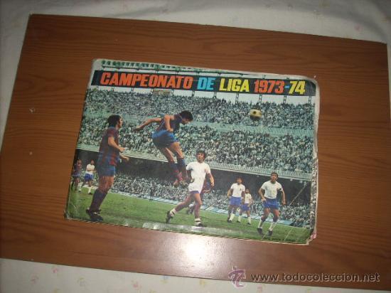 ALBUM DE LA LIGA 1973-74 DE FHER CON POSTER CENTRAL (Coleccionismo Deportivo - Álbumes y Cromos de Deportes - Álbumes de Fútbol Incompletos)