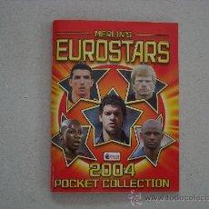 Coleccionismo deportivo: POCKET ALBUM EUROSTARS 2004 POCKET COLLECTION MERLIN ALBUM PLANCHA. Lote 28944247