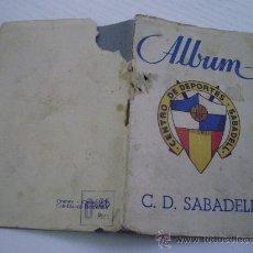 Coleccionismo deportivo: ALBUM DEL CENTRO DE DEPORTES SABADELL - FUTBOL - AÑO 1.946 - EDITA GRAFOTO - VACIO. Lote 29788566