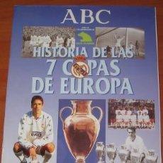 Coleccionismo deportivo: ÁLBUM VACÍO HISTORIA DE LAS 7 COPAS DE EUROPA, REAL MADRID, ABC. Lote 30262512