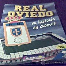 Coleccionismo deportivo: REAL OVIEDO. SU HISTORIA EN CROMOS. ALBUM DE CROMOS INCOMPLETO. DE LOS AÑOS 90. CROMOSOL.. Lote 47594838