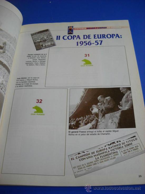 Coleccionismo deportivo: ALBUM DE CROMOS REAL MADRID HISTORIA DE LAS 7 COPAS DE EUROPA ABC - Foto 3 - 31255402