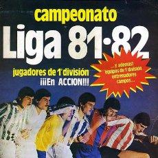Coleccionismo deportivo: ALBUM FUTBOL, LIGA 81 82 ,1981 82 , INCOMPLETO CON 217 CROMOS, VER FOTOS, ORIGINAL ,H. Lote 31269210