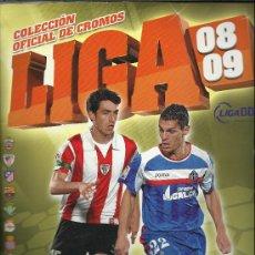 Coleccionismo deportivo: ALBUM DE LA LIGA 2008/2009 CON MAS 530 CROMOS COMPLETOS LOS EQUIPOS SOLO FALTAN 16 ULTIMOS FICHAJES. Lote 99210539