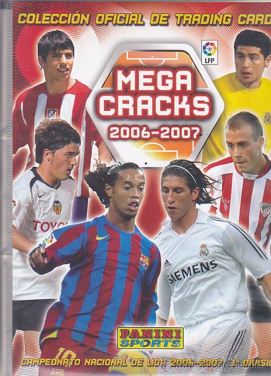 ALBUM PANINI MEGA CRACKS 2006-2007 CONTIENE 482 CROMOS (Coleccionismo Deportivo - Álbumes y Cromos de Deportes - Álbumes de Fútbol Incompletos)