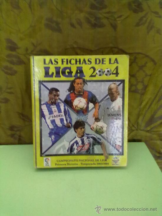 ALBUM DE CROMOS FUTBOL,LIGA 2003-2004,MUNDICROMO LIGA 2004 ( INCOMPLETO ) (Coleccionismo Deportivo - Álbumes y Cromos de Deportes - Álbumes de Fútbol Incompletos)
