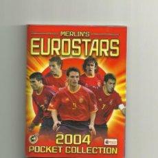 Collectionnisme sportif: ALBUM COMPLETO EUROSTARS MERLIN EUROCOPA 2004 CHICLES (TAPAS PLASTIFICADAS) . Lote 31886653
