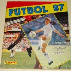 Coleccionismo deportivo: ÁLBUM DE CROMOS DE FÚTBOL. 87. 1987. EDICIONES PANINI. LIGA. 1ª DIVISIÓN Y MUNDIAL 1986. . Lote 32035636