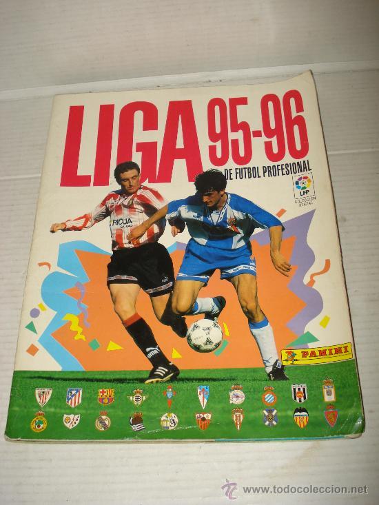 ANTIGUO ALBUM DE FUTBOL LIGA 95-96 DE PANINI (Coleccionismo Deportivo - Álbumes y Cromos de Deportes - Álbumes de Fútbol Incompletos)