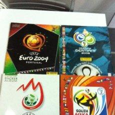 Coleccionismo deportivo: LOTE DE 4 ALBUNES. PANINI. EUROCOPA 2004 Y 2008. MUNDIAL 2006 Y 2010. Lote 32479848