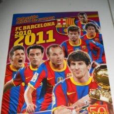 Coleccionismo deportivo: ALBUM DE CROMOS VACIO PLANCHA OFICIAL F.C. BARCELONA LIGA FUTBOL 2010 2011 10 11 PANINI. Lote 32609258