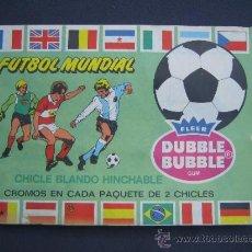 Coleccionismo deportivo: FUTBOL MUNDIAL - ALBUM EDITADO POR CHICLE DUBBLE BUBBLE - VACIO - CONSULTAR DESCRIPCIÓN. Lote 161051046