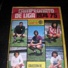 Coleccionismo deportivo: CAMPEONATO DE LIGA 1974 - 1975 , ALBUM ESTE - FALTAN 12 CROMOS + TODOS LOS FICHAJES. Lote 32769692