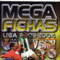 Coleccionismo deportivo: ALBUM CROMOS VACIO Y NUEVO MEGAFICHAS 2003 - 2004 03 - 04. Lote 33081992