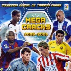 Coleccionismo deportivo: ALBUM CROMOS CASI COMPLETO MEGACRACKS 2005 - 2006 05 - 06 LEER INTERIOR. Lote 33082174