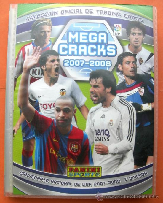 MEGA CRAKS 2007 2008. PANINI (CONTIENE 409 FICHAS) (Coleccionismo Deportivo - Álbumes y Cromos de Deportes - Álbumes de Fútbol Incompletos)
