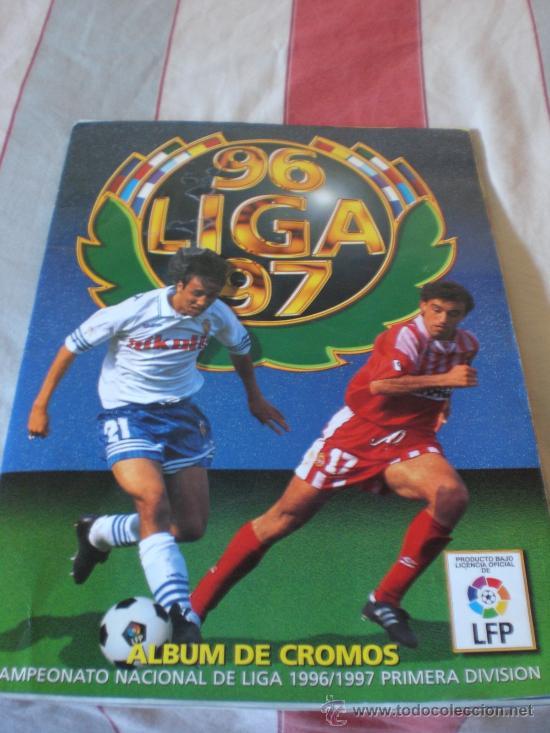 ALBUM CROMOS FUTBOL LIGA ESPAÑOLA TEMPORADA 96 97 (Coleccionismo Deportivo - Álbumes y Cromos de Deportes - Álbumes de Fútbol Incompletos)