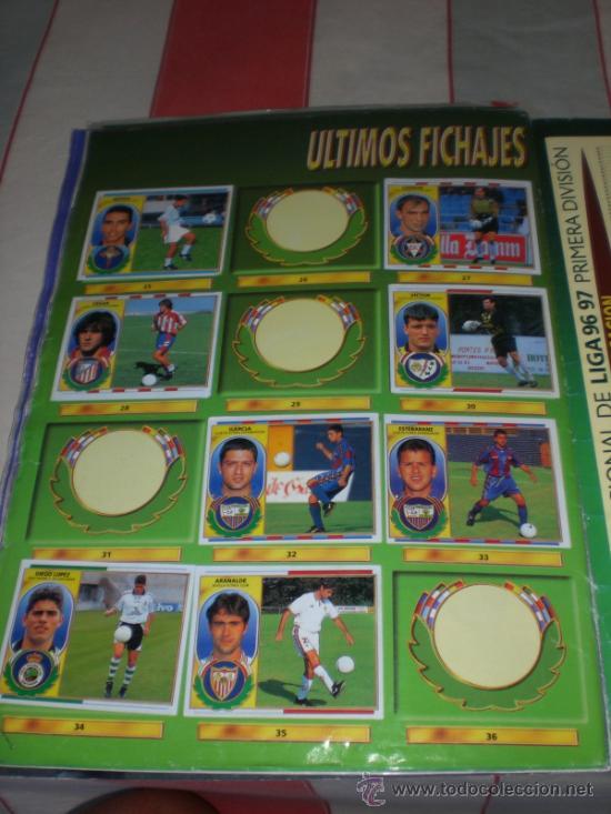 Coleccionismo deportivo: ALBUM CROMOS FUTBOL LIGA ESPAÑOLA TEMPORADA 96 97 - Foto 2 - 33547630