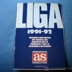 Coleccionismo deportivo: ALBUM CROMOS AS LIGA 1991 1992 ESCUELA DE FUTBOL GENTO CON ALGUNOS CROMOS . Lote 33805215