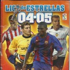 Coleccionismo deportivo: ALBUM LIGA DE ESTRELLAS 04-05, COLECCION DE BOLSILLO PANINI CON 69 CROMOS . Lote 33945456