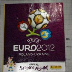 Coleccionismo deportivo: ALBUM FUTBOL UEFA EURO 2012 DE PANINI. Lote 34395197