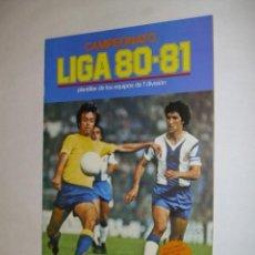 Coleccionismo deportivo: ALBUM PLANCHA VACIO EDICIONES ESTE 1980-1981 LIGA 80-81 - CROMOS . Lote 34518339