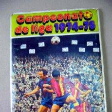 Coleccionismo deportivo: ALBUM, FUTBOL, CAMPEONATO DE LIGA 1974-75, FALTAN 20 CROMOS, DISGRA. Lote 34814286